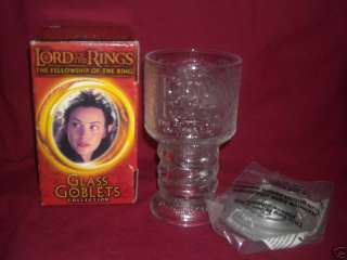LORD OF THE RINGS ARWEN GLASS GOBLET