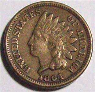 1864 Copper/Nickel INDIAN HEAD CENT~~Nice ORIGINAL XF