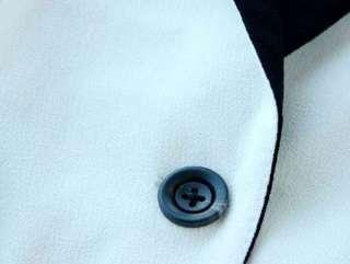 New Korean Women One button Lapel 3/4 Sleeve Suit Jacket Coat 3 Color