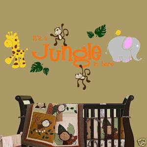 Jungle in here with Jungle Friends Wall Decal Nursery Kids Room Decor