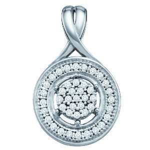 10k White Gold 0.15 Dwt Diamond Fashion Pendant