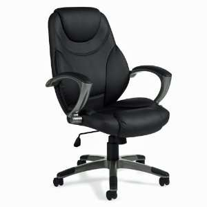 High Back Black Executive Chair Black Simulated Leather