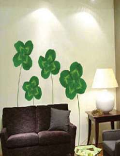 Four Leaf Clovers Adhesive Wall STICKER Removable Decal