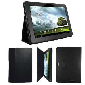 Portfolio Style Leather Case Cover Stand for ASUS Transformer Prime