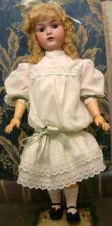 33 HUGE KESTNER 214 ANTIQUE character doll in antique dress must see