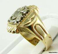 MASTER MASON Masonic RING   10k GOLD Unique Symbol
