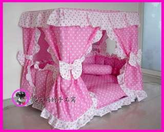 Pet Dog Princess Pet Dog Cat Handmade Bed House + 1 Candy Pillow