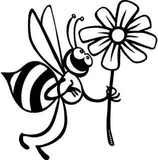 Bee in Spring Vinyl Decal Car Truck Window Sticker