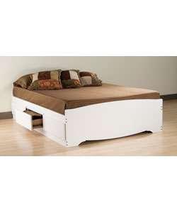 Winslow White Queen Platform Storage Bed