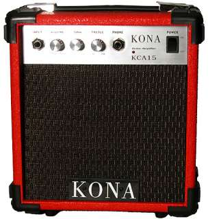 Kona 10 Watt Electric Guitar Amplifier, Red Finish Music