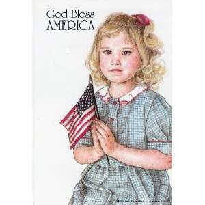 Club Pack Of 100 God Bless America Girl With Flag Pin Or Jewelry