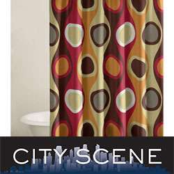 City Scene Retro Radar Red Shower Curtain  Overstock