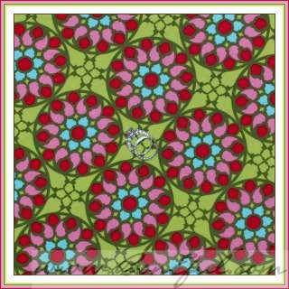 BOOAK Fabric Benartex Bow Blue Pink Rose Leaf Green Stripe Flower VTG