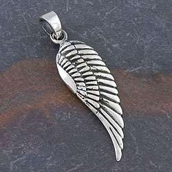 Sterling Silver Angel Wing Pendant (Thailand)