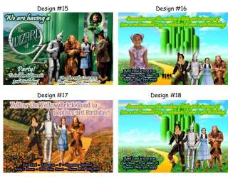 Wizard of Oz Dorothy ~ Birthday Party Ticket Invitations, Supplies