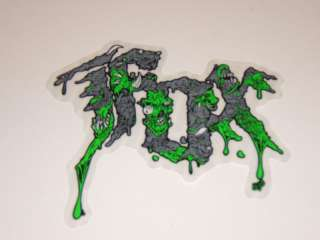 FOX RACING MOTOCROSS ATV QUAD SKATEBOARD WAKEBOARD GREEN RABID STICKER