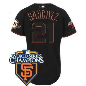 San Francisco Giants #21 Freddy Sanchez Black 2011 MLB Authentic