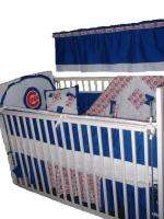 Baby Nursery Crib Bedding Set w/Chicago Cubs fabric NEW