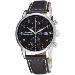 Magellano Black Strap Automatic Chronograph Watch