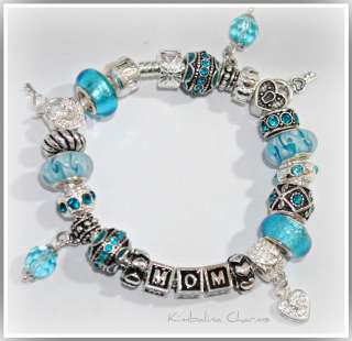 EUROPEAN STYLE CHARM BRACELET with BEADS Mothers Day