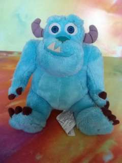 Monsters Inc 6 Mini Bean Bag SULLEY Plush Toy GUC