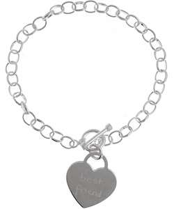 Sterling Silver Best Friend Tween Heart Bracelet
