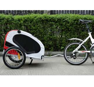 New Deluxe Pet Dog Bike Bicyble Trailer Cat Carrier + Bicycle Hitch