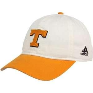 adidas Tennessee Volunteers White Orange On Field Adjustable Slouch