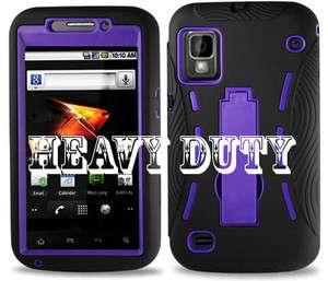Case Skin Case Cover For ZTE Warp Boost Mobile Black & Purple