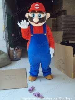 Super Mario Halloween Mascot Costume Fancy Dress Suit