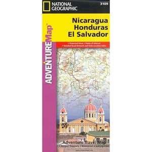 , Honduras, El Salvador, National Geographic Maps Travel & Nature