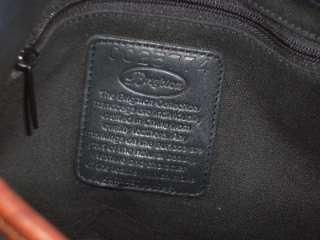 Vintage Black/Brown Braided Croco Leather Shoulder Bag Handbag Purse