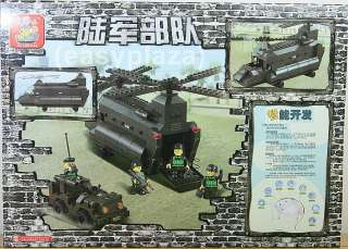 ARMY HELICOPTER (#B6600) BUILDING BLOCKS BRICKS SET BRAND NEW SLUBAN