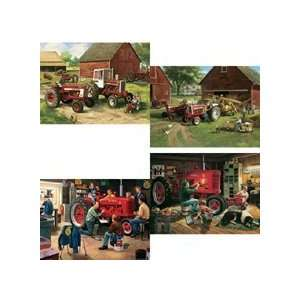 Karmin 500 Piece Jigsaw Puzzle 4Pack Farmall Tractor