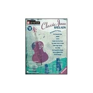 Jazz Play Along Book & CD Vol. 72   Classic Jazz Ballads