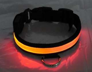 LED Pet Dog cat Safety Collar Solid color map cloth Flashing Light