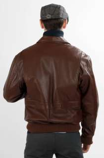 United Face Mens New Lambskin Leather Flight Bomber Jacket Size S M L