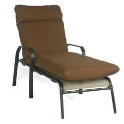 Bria Outdoor Brown Chaise Patio Lounge Chair Cushion