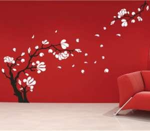 Magnolia Flower & Tree Wall Art Stickers / Wall Decals