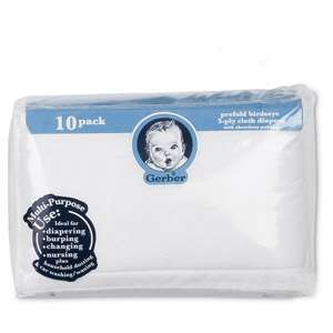 Gerber Pre Fold Birdseye 3 Ply Cloth Diapers, Pre Folded Diapers, Baby