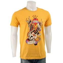 Ed Hardy Mens New York City Yellow T shirt