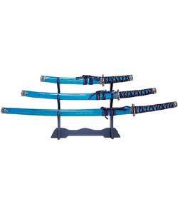 Ocean Blue Katana Sword Set