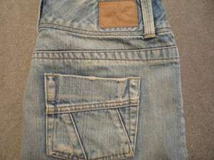 AMERICAN EAGLE Low Rise Straight Denim Mini Skirt ~ Distressed ~ sz 6