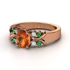 Gabrielle Ring, Oval Fire Opal 14K Rose Gold Ring with