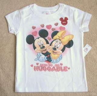 MICKEY MOUSE & MINNIE Valentine Tee T Shirt NWT 4 4T