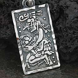 Sterling Silver Aztec God of Love Pendant (Mexico)