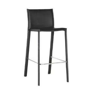 Wholesale Interiors Baxton Studio Black 29 Leather Counter Stool with