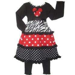 Ann Loren Girls Minnie Mouse Dress Set