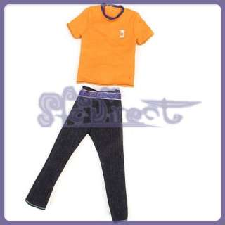 Fashion T shirt Pant Outfit Clothes for Ken Barbie Doll