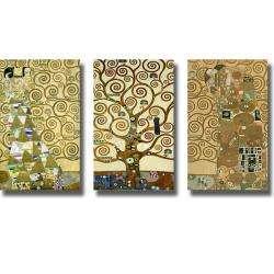 Gustav Klimt Tree of Life 3 piece Canvas Art Set